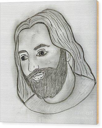 Mod Jesus Wood Print by Sonya Chalmers