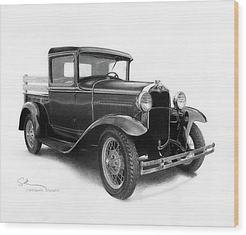 Model A Wood Print by Christopher Bracken
