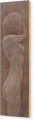 Model Female Nude.02 Wood Print by Ray Agius