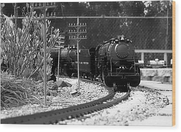 Model Locomotive Wood Print by Debra Forand