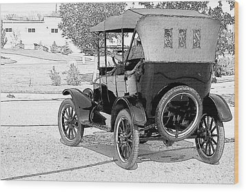 Model T Wood Print by John Hix