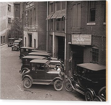 Model Ts, And One More Luxurious Wood Print by Everett