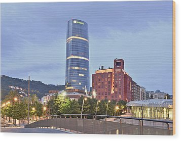 Modern Architecture Bilbao Spain Wood Print by Marek Stepan