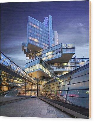 Modern City Lights Wood Print by Marc Huebner