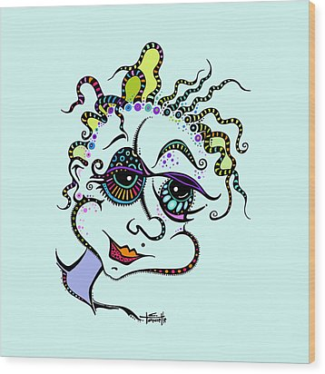 Modern Day Medusa Wood Print by Tanielle Childers