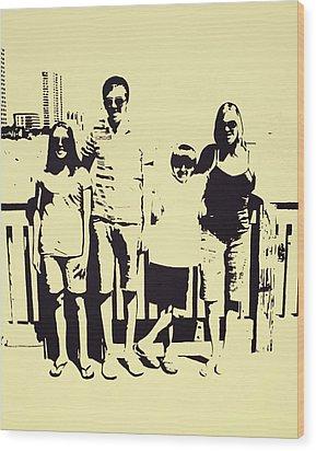 Modern Day Single Mom Family Vacation  Wood Print by Sheri Buchheit
