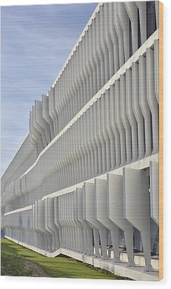 Modern Facade Abstract Wood Print by Marek Stepan