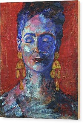 Modern Frida Wood Print