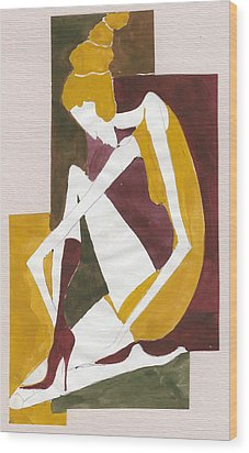 Modern Greek Goddess Wood Print by Maya Manolova