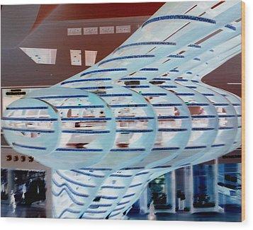 Modern Mall Wood Print by Karen J Shine