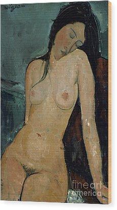 Modigliani: Nude, C1917 Wood Print by Granger