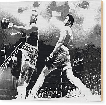 Mohamed Ali Float Like A Butterfly Wood Print by Saundra Myles