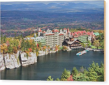 Mohonk Mountain House Wood Print by June Marie Sobrito