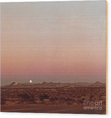 Wood Print featuring the digital art Mojave Sunset by Walter Chamberlain