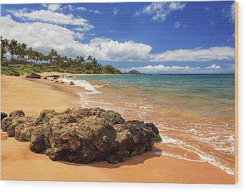 Mokapu Beach Maui Wood Print by James Eddy