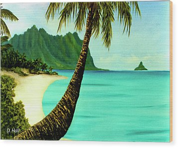 Mokolii Chinamans Hat Koolau Mountains #81 Wood Print by Donald k Hall