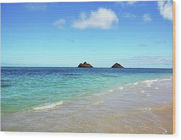 Mokulua Islands Wood Print by Kelly Wade