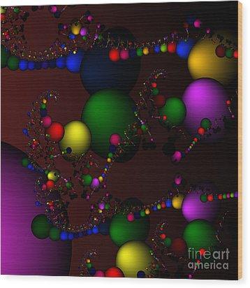 Molecule 119 Wood Print by Rolf Bertram