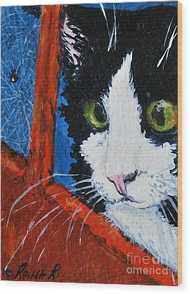 Wood Print featuring the painting Molly by Reina Resto