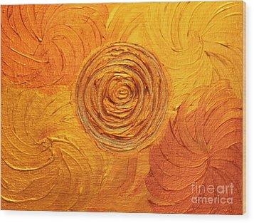 Molten Spiral Wood Print