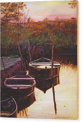 Moment At Sunrise Wood Print by David Lloyd Glover