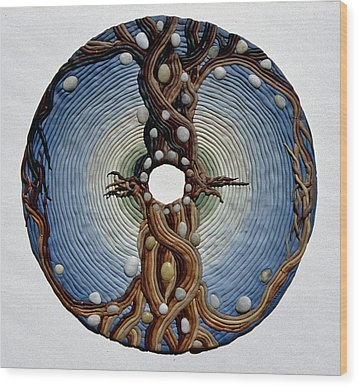 Momentary Node Of Connection - Tears Of Stone Wood Print by Arla Patch