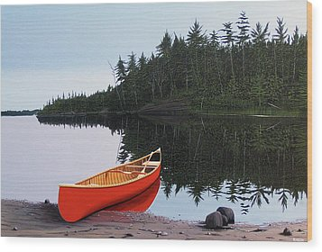 Moments Of Peace Wood Print by Kenneth M  Kirsch