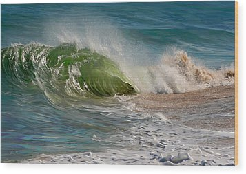 Momentum Wood Print by Sue  Brehant