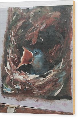 Momma  Wood Print