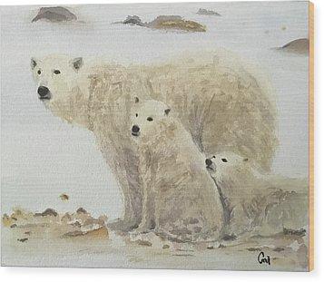 Mommy Bear Wood Print