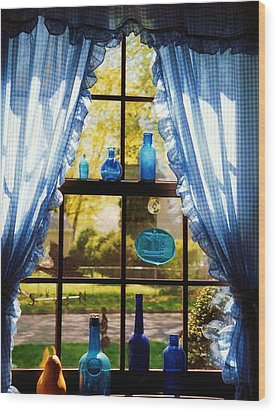 Wood Print featuring the photograph Mom's Kitchen Window by John Scates