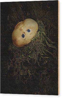 Mon Petit Chou Wood Print by Rebecca Sherman