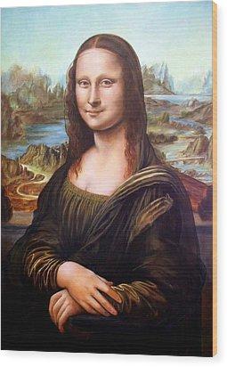 Mona Lisa After Leonardo Wood Print
