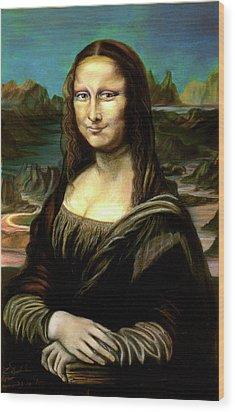 Mona Lisa My Version Wood Print by Elisabeth Dubois
