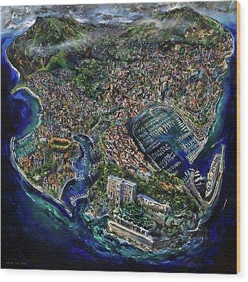 Monaco Wood Print by Antonio Ortiz