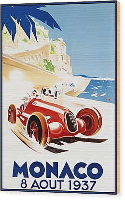 Monaco Grand Prix 1937 Wood Print by Georgia Fowler