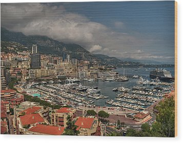 Wood Print featuring the photograph Monaco - La Condamine 001 by Lance Vaughn