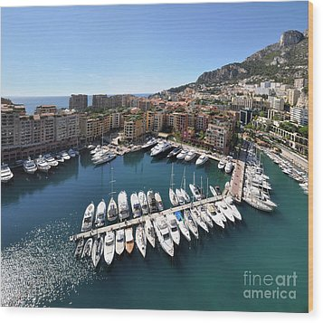 Monaco Port De Fontvieille  Wood Print by Yhun Suarez