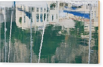 Monaco Reflection Wood Print by Keith Armstrong
