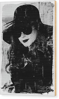 Monaco Woman Wood Print