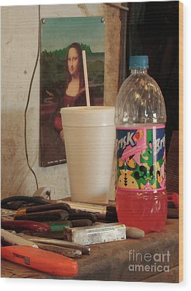 Wood Print featuring the photograph Monas Sodas by Joe Jake Pratt