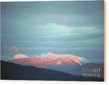 Monashee Sunset Wood Print