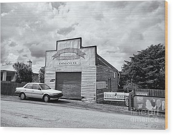 Wood Print featuring the photograph Monegeetta Produce Store by Linda Lees