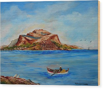 Monemvasia Wood Print