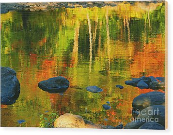 Monet Autumnal Wood Print by Aimelle