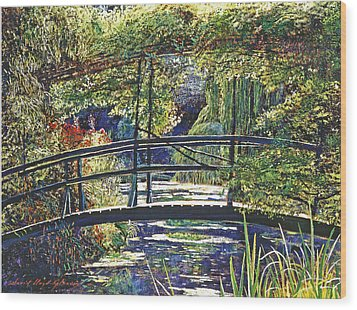Monet Wood Print by David Lloyd Glover