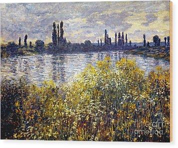 Monet: Seine/vetheil, 1880 Wood Print by Granger
