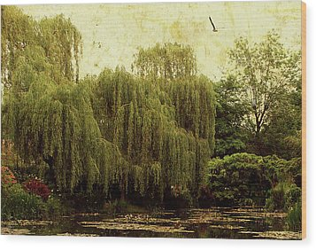 Monet's Garden Wood Print by Margaret Hormann Bfa