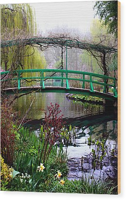 Monet's Magical Bridge Wood Print