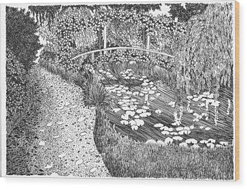 Monet's Paradise Wood Print by Thomas  Ferguson